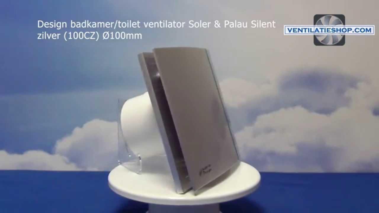 Design badkamer toilet ventilator soler & palau silent zilver