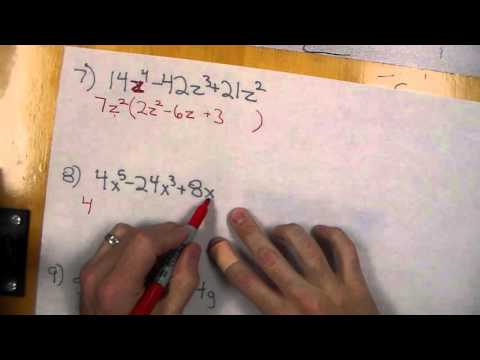 Multiplying and Factoring Polynomials with GCF