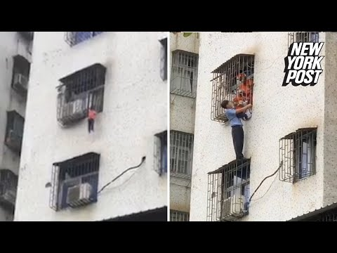 Kat Jackson - Hero Saves Baby Hanging From Balcony