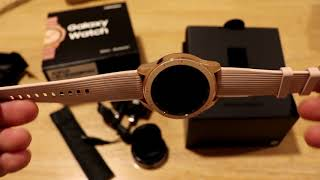 Galaxy Watch Rose Gold Unboxing and First Look
