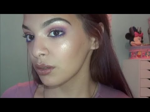 Glowing look; Blue and Purple eyeshadow! USING CARLI BYBEL PALETTE thumbnail