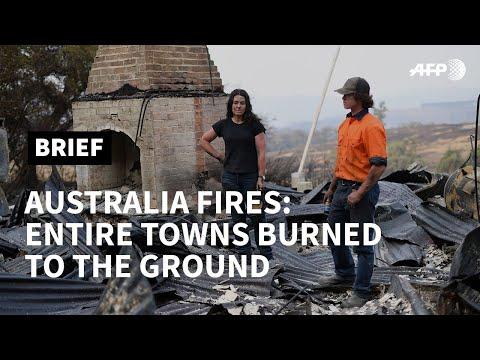Australian bushfires: charred wastelands in NSW town | AFP