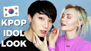 Doing my Boyfriends Makeup *Idol Look*