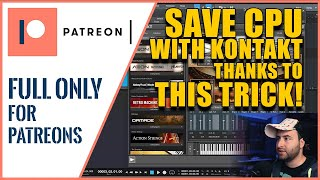 #7 - SAVE CPU using THIS TRICK on Kontakt VST Libraries | Studio One Tutorial