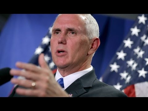 "Pence sensing a ""whiff of desperation"" from Dem..."