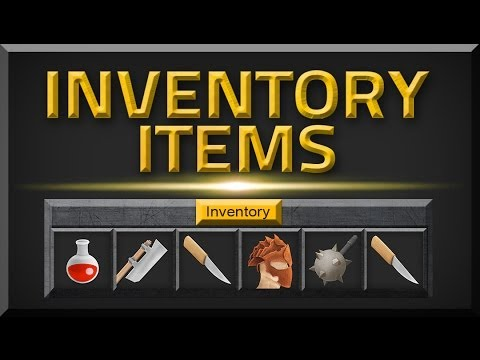 Unity INVENTORY System MAKING ITEMS (Free Asset)