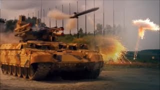 """Russian BMPT-72 """"Terminator"""" Tank in Action 