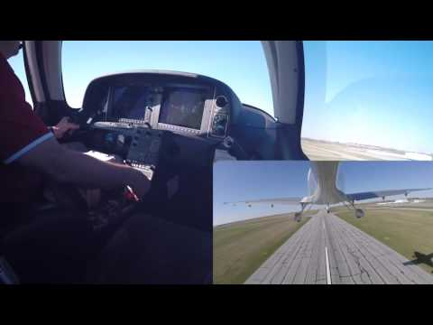 2009 Cirrus SR20 GTS Solo Touch and Goes at KLNK