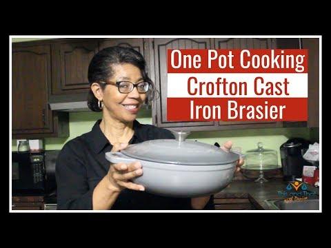 Crofton Cast Iron Braiser Review | One Pot Cooking Challenge | #onepotcookingchallenge