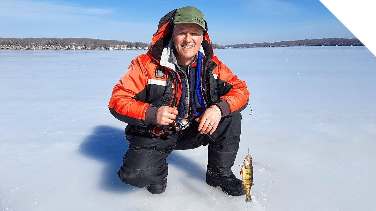 Silver lake ny ice fishing for perch youtube for Ice fishing ny