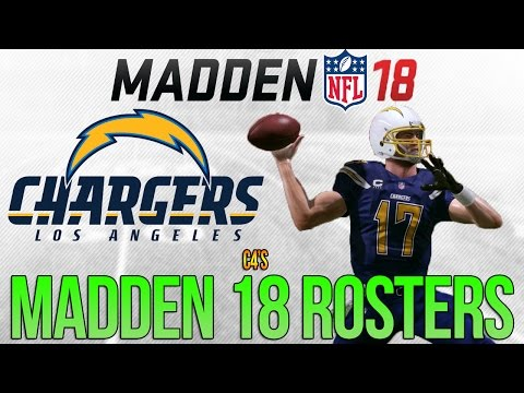 LA CHARGERS Madden 18 Ratings | c4's Custom Madden 17 Rosters - ft. Mike Williams + OP Bosa