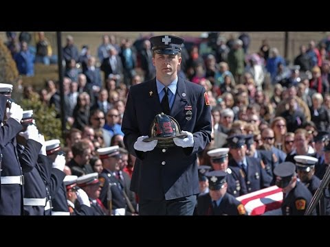 Thousands Attend Boston Firefighter Michael Kennedy's Funeral