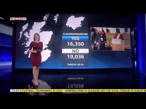 Sky News HD | Scottish Referendum UHD Wall Final Results September 2014