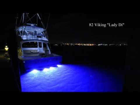 Lumishore Color Change Underwater LED Lights on 82' Viking