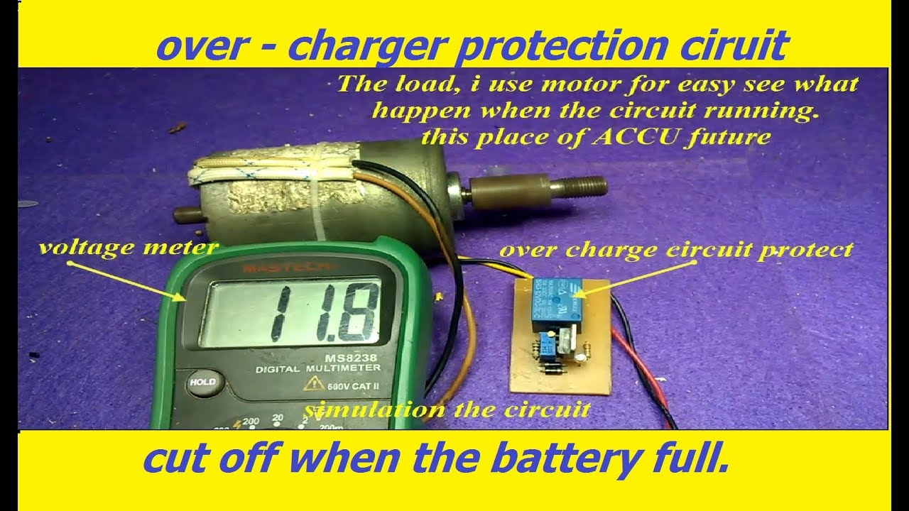 how to make overcharge protection circuit for battery cut off when battery full [ 1280 x 720 Pixel ]