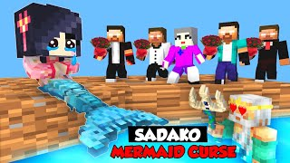 Monster School : SADAKO MERMAID CURSE! HEROBRINE BROTHERS SAVE SADAKO