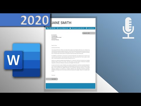 How To Create A Modern Cover Letter 📄 Template In Word (🎙VOICE OVER, 2020) - With Downloadlink⬇