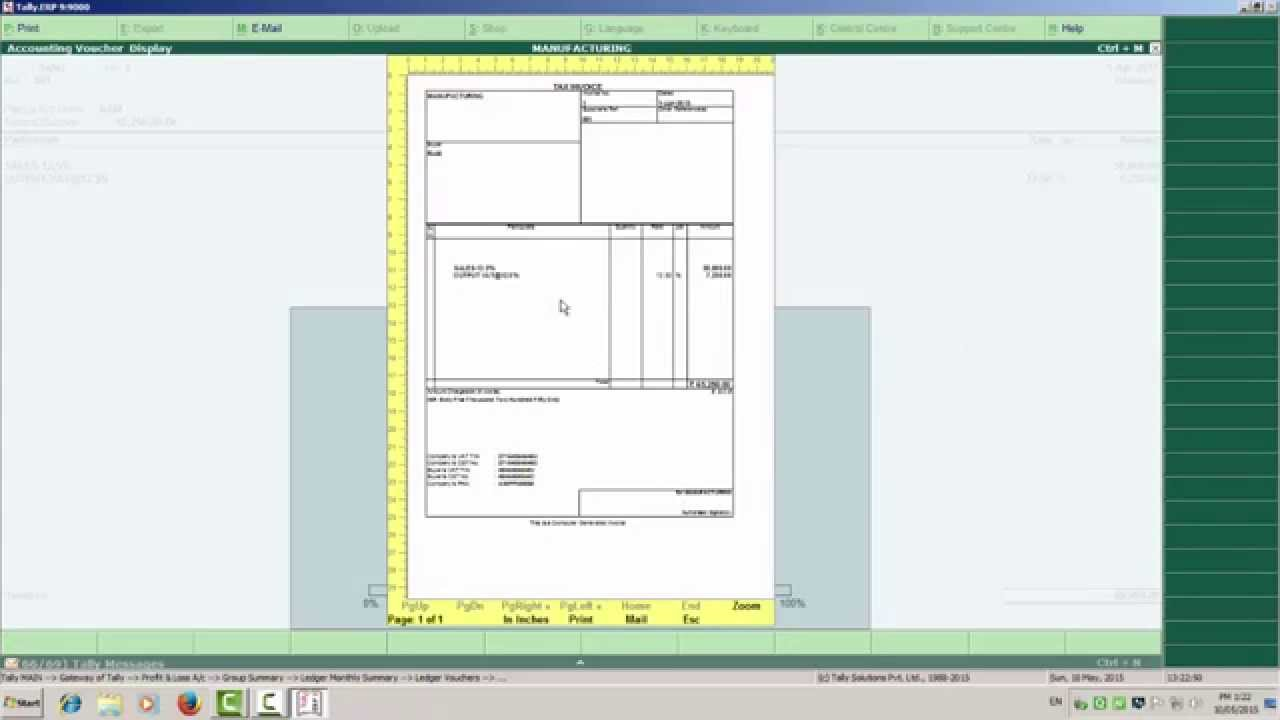 HOW TO MAKE TAX INVOICE IN TALLY YouTube - Making an invoice in excel big and tall stores online