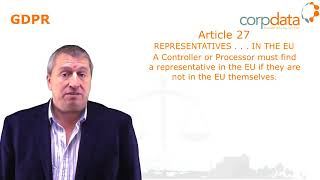 Do I need a representative in the EU? Part 15 in our Guide to GDPR in 1 minute bites