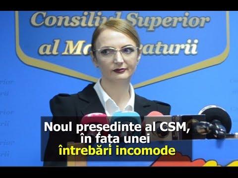 Lia Savonea, în faţa unei întrebări incomode în prima sa zi ca preşedinte al CSM