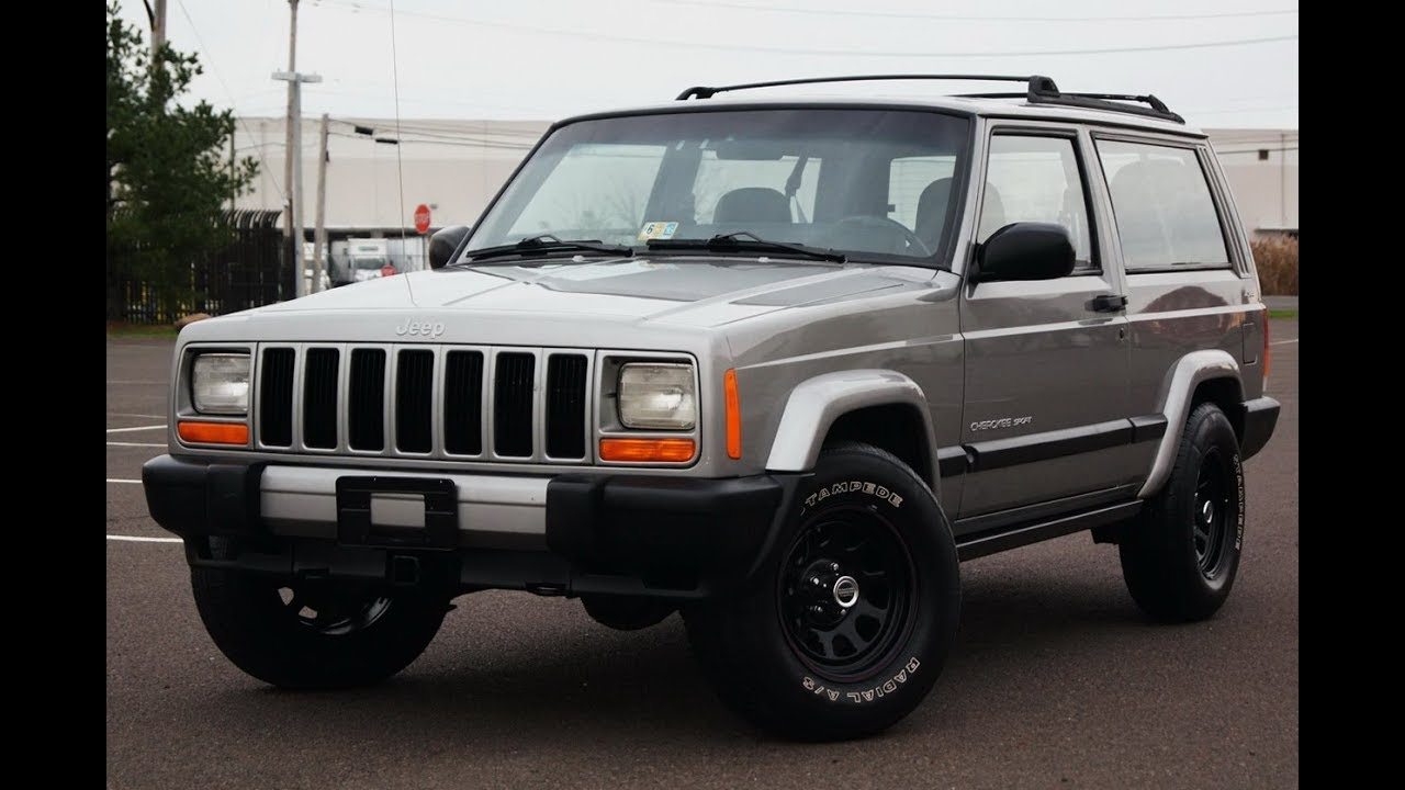 2000 Jeep Cherokee 4.0L I6 4WD 2 Door 5-Speed Manual - YouTube