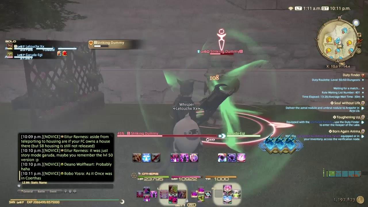 FFXIV | Smn 2 Ruin IV 1 Proc  (400+ Ping)