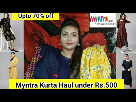 myntra-kurta-haul-under-rs.500-part-1-|-upto-70-%-off-|-affordable-kurtas-of-gerua-and-aks-brand-||