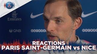 REACTIONS : PARIS SAINT-GERMAIN vs NICE (FRA )