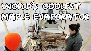 Brick Evaporator Boils Maple Syrup - High Efficiency and Super Fast