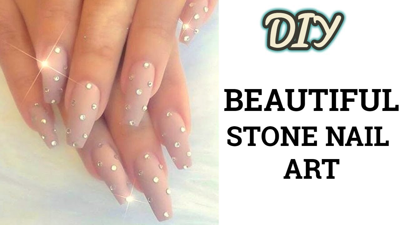 Diy Stone Nail Art Step By Step Easy Nail Art Designlatest And