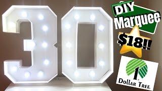 Dollar Tree Marquee Sign   Diy