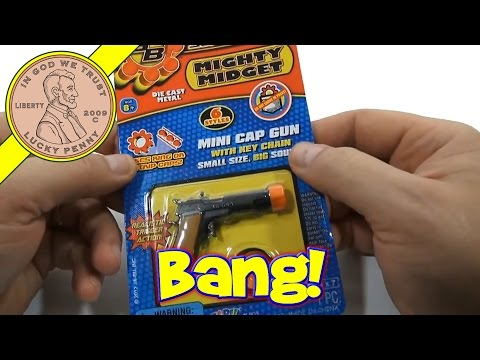 Super Bang Mighty Midget Walther P45 Cap Gun Key Chain, JA-RU Toys