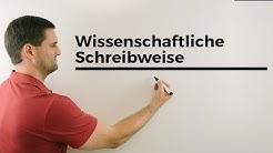 Wissenschaftliche Schreibweise (scientific notation), große/kleine Zahlen | Mathe by Daniel Jung