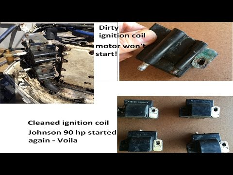 Johnson 90 hp - no fire in 4 cylinders (fixed by cleaning the 4 ignition coils)