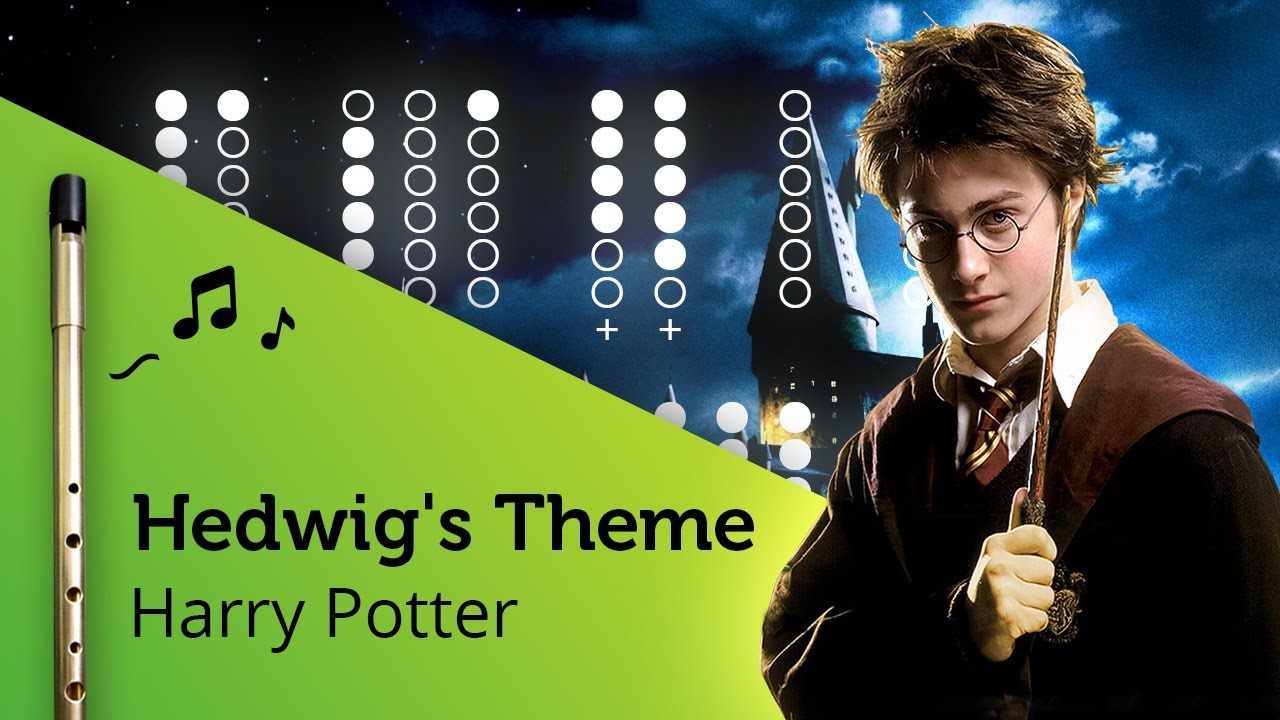 Hedwigs Theme Harry Potter On Tin Whistle D Tabs Tutorial Youtube