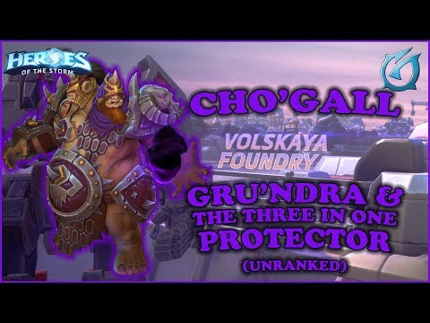 Grubby | Heroes of the Storm - Cho'gall - Three In One Protector - Unranked - Volskaya Foundry