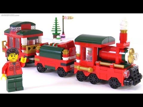 LEGO 2015 Christmas Train review! promotional set 40138 - YouTube