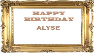 Alyse   Birthday Postcards & Postales - Happy Birthday