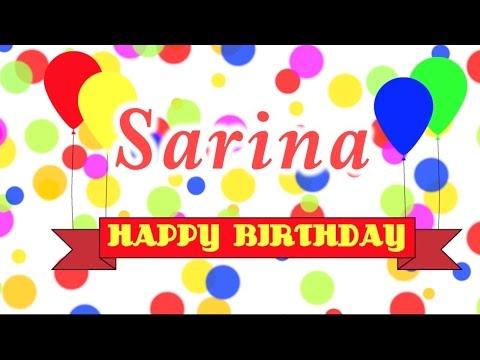 Happy Birthday Sarina Song