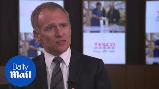 Tesco's CEO says the company has made progress over past year - Daily Mail