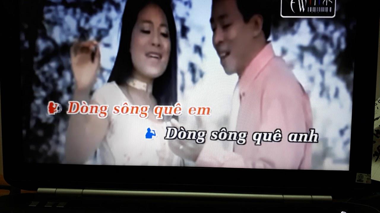Karaoke Dòng sông quê anh ,Dòng sông quê em thiếu giọng nam(Hoa Mua Nguyễn)