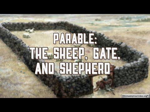 Parable: The sheep, gate, and shepherd - John 10: 1-18