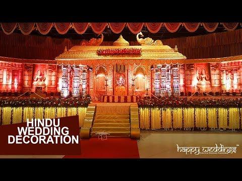 Hindu Wedding Stage Decoration By Team Happy Weddings At Girideepam