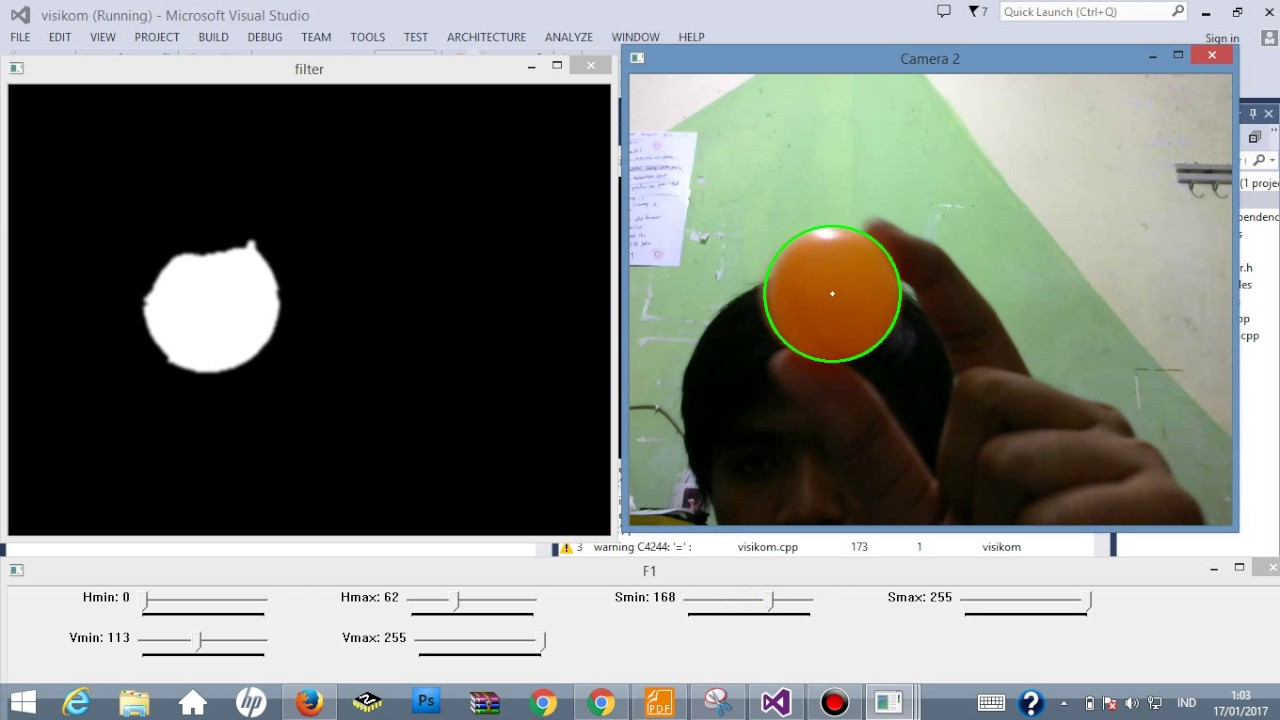 Tracking Object Using Opencv And Hsv Heu Saturation Value In C