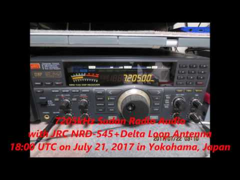 7205kHz Sudan Radio Audio with JRC NRD-545+Delta Loop Antenna