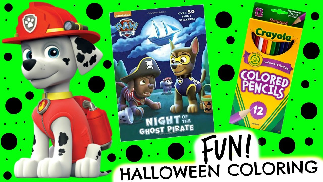 Paw Patrol Coloring Book Halloween Pages With Marshall