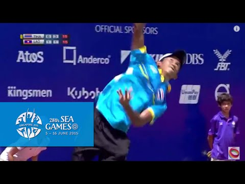 Tennis Pre Quarter Finals Thailand vs Laos (Day 5) | 28th SEA Games Singapore 2015