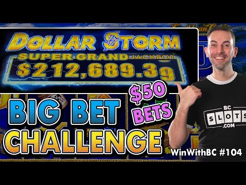 🏴☠️ Big Bet Challenge 🦜 $50 Spins On Dollar Storm Caribbean Gold