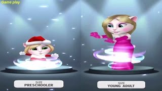 My Talking Angela PRESCHOOL VS Young Adult SIZE / LEVEL 10 Vs LEVEL 35 Gameplay