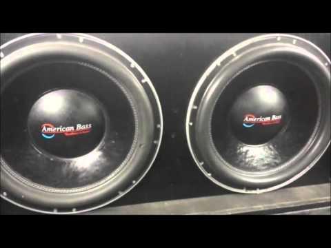 2 American Bass XFL 15 Inch Subs On 2000 Watts